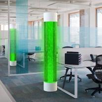 Lámpara de algas que consumen CO2 y producen luz