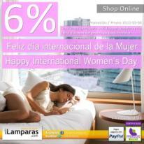 Promo 6% dto - Feliz día internacional de la Mujer