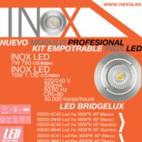 Nuevo módulo profesional Inox LED Kit empotrable 7W Y 10W