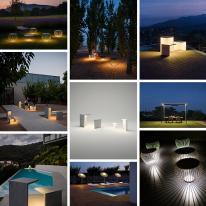 Sintonía perfecta para exterior, Furniture meets light de Vibia