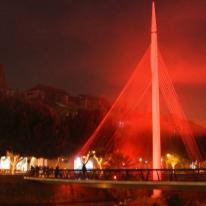 Iluminación de navidad LED, la Pasarela Manterola