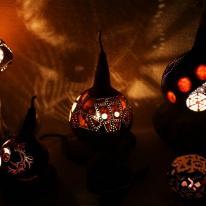 Lámparas calabaza de diseño ecológicas