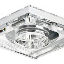 3033 Halógeno Empotrable de 1 luz Cuadrado Gu10 Cristal