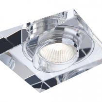 3036 Halógeno Empotrable de Cristal 1 luz Cuadrado Gu10