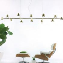 Spider N10 Pendant Lamp GU10 10x20W laton