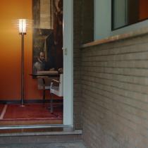 0024 Floor Lamp ø55x190cm 1x205w E27 (HL) Chrome