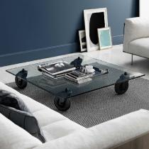 Tavolo table with wheels 140x70x25cm