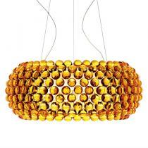 Caboche Lámpara Colgante Grande Amarillo Oro (Cable 5m)