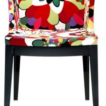 Mademoiselle chaise structure noire Tissu missoni