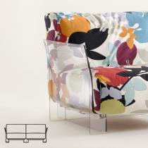 Pop sofa modulaire Structure Transparent 2 places