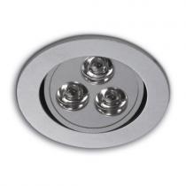 Ledio Downlight adjustable for 3 powerled Aluminium