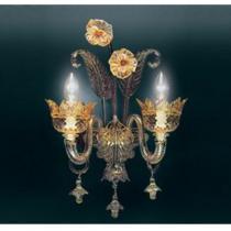 709 P2 Wall Lamp Glass ambar/Chrome