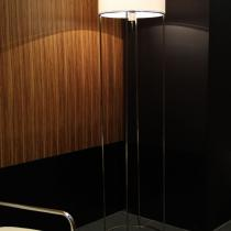 2098 F40 lámpara of Floor Lamp Nickel lampshade Damasco