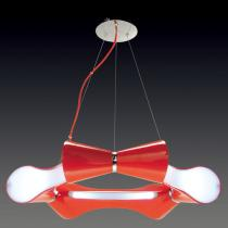 Ora Lâmpada pingente Lacado Vermelho 6L