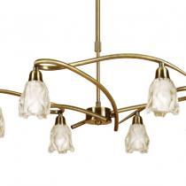 Amel Lámpara Colgante Cuero 6L E14