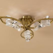 Krom lâmpada do teto couro 3L