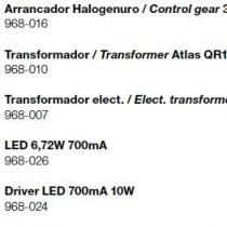 Atlas (accesorio) Arrancador halogenuros 35W