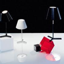 Nolita M Lampe de table Aluminium E14 46W Transparent