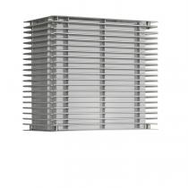 Dojo to Pe Wall Lamp Outdoor Anodized Silver