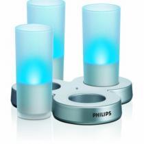 IMAGEO LED velas, set de 3 + cargador