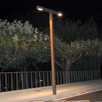 Zenete 400 2 Lampione LED 2x33,6W - metallo e Legno