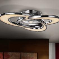 Anisia Plafón LED 53,40W ø71x13cm - Cromo y transparente
