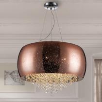 Caelum Lámpara colgante LED 6x33W ø50x5cm - Cromado,