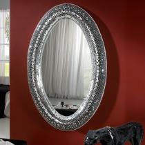 Gaudi Espejo ovalado 116x180x10cm - Espejo plata y cristal