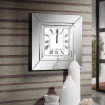 Lucy reloj de pared marco con espejos biselados 60x60x10cm