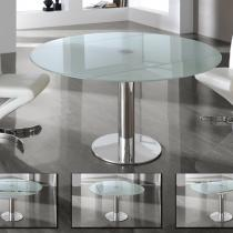 Alba mesa de comedor extensible acero inoxidable/Cristal