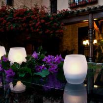 Candela bougie LED ovale Verre