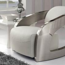 Amanda sillón blanc cuir italien Deffet Piel