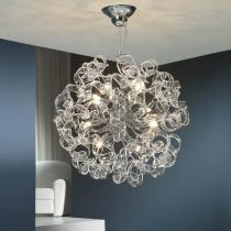 Nova Lámpara Colgante 8xG9 LED 6W Cristal Transparente