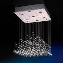 Estratos Pendant Lamp 7xGU10 LED 7W bright chrome/Glass