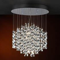 Espiral Pendant Lamp 1 Balls 18L bright chrome