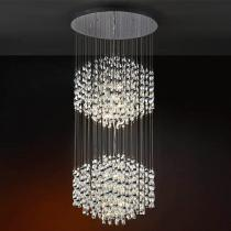 Espiral Pendant Lamp 16 lights G9 42w bright chrome