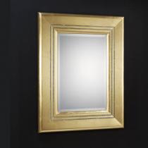 Luxury espejo rectangular Pequeño Pan de Oro