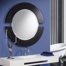 Luxury espejo Rcos Redondo negro