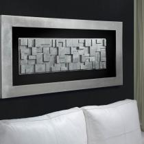 City bas-relief rectangular Framework Silver Leaf