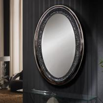 Gaudi espejo Oval negro perla