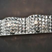 Onda Aplique G9 2x42W Malla de cristales facetados