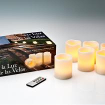 Vela LED Set 6 con mando a Distancia Velas LED