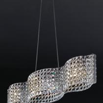 Onda Lámpara G9 4x53W larga Malla de cristales facetados