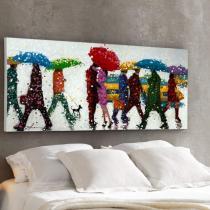 Acrílico Umbrellas 140x70 Pintura Acrílica