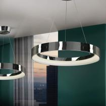 Cronos Lámpara Colgante ø60 LED 38W Cromo