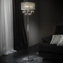 Andrómeda lámpara de Pie 5L Cromo