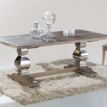 Antica mesa comedor 200x78x100cm Madera con patina blanca