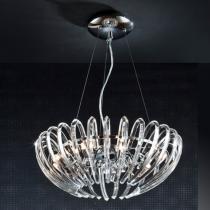 Ariadna Lámpara Colgante 9xG9 LED 4W Cromo