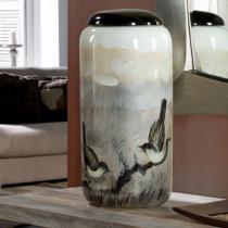 Aves Vasija avec couvercle 47x22cm - céramique pintada a