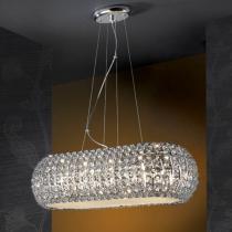 Diamond Lámpara Colgante Oval 10 G9 LED 4W Cromo/Copens
